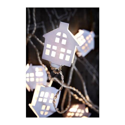 STRÅLA Ljusslinga 16 ljus, inomhus IKEA Använder LED; förbrukar upp till 85% mindre energi och har 20 gånger längre livstid än glödlampor.