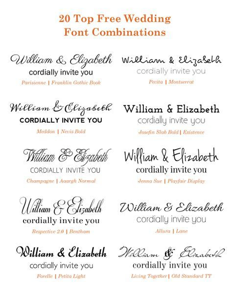 20 Popular Free Google Wedding Font Combinations   BonFX