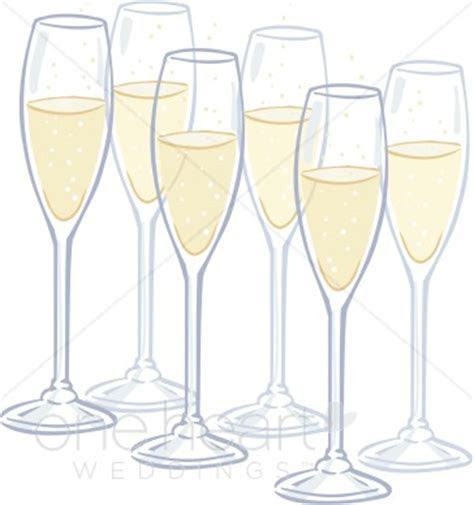 Clipart Champagne Flutes   Wedding Drinks Clipart