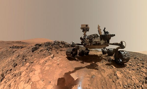 A self-portrait of NASA's Curiosity Mars rover, taken with a camera on her robotic arm on August 5, 2015.