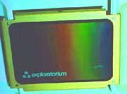 liquid crystal thermal postcard shows conduction