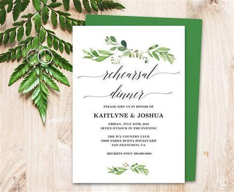 Wedding Rehearsal Dinner Invitation Card Template