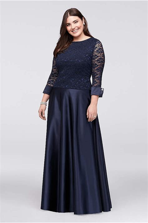 Cold Shoulder Capelet Plus Size Dress with Beading   David