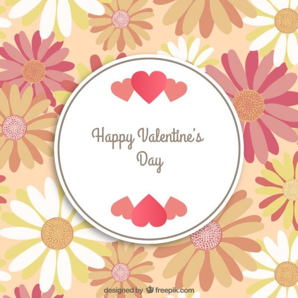 Frame With Flowers Happy Valentines Day Free Vectors Free Vectors