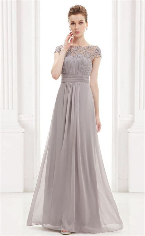 Ever Pretty Grey Lacey Evening Dress #everpretty #gray #
