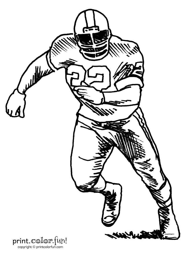 Nfl Football Player Drawing at GetDrawings   Free download