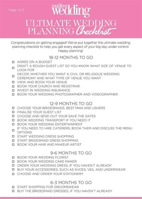 The Ultimate Wedding Planning Checklist: Download Our Free