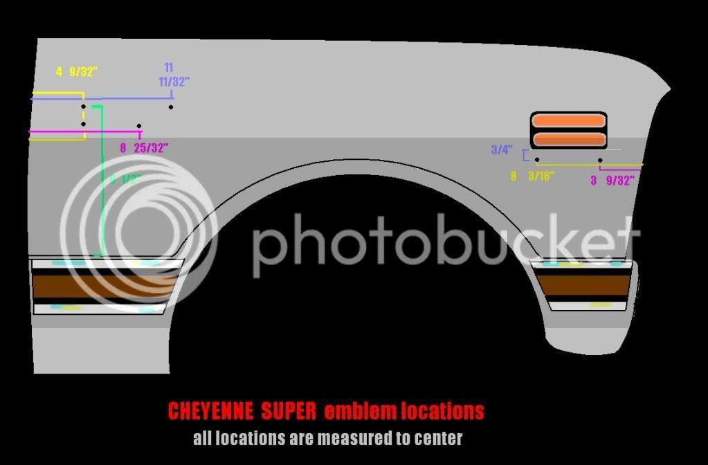 Cheyenne 10 Super Emblem Location The 1947 Present Chevrolet Gmc Truck Message Board Network