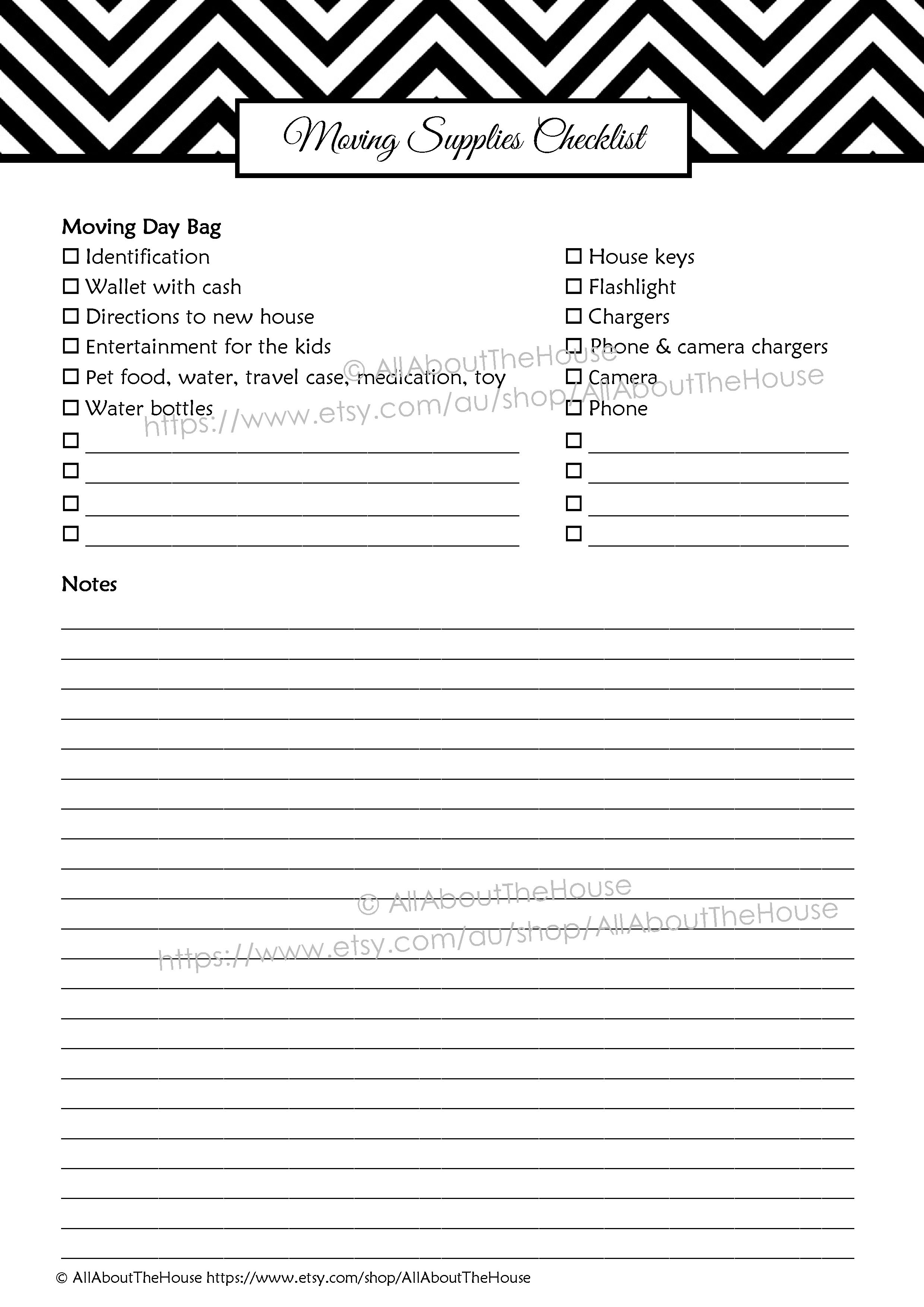 Moving Planner – Editable | AllAboutTheHouse Printables
