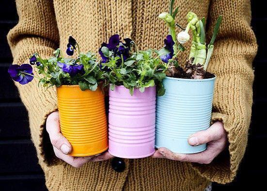 Pot Bunga Unik dan Cantik dari Kaleng Bekas