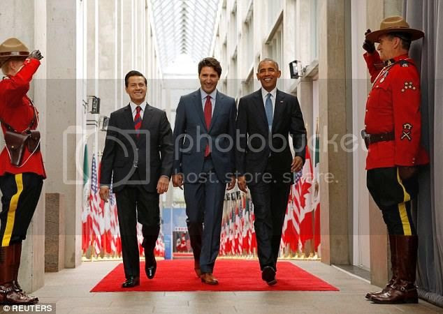 Peña Nieto, Trudeau, Obama in Ottawa
