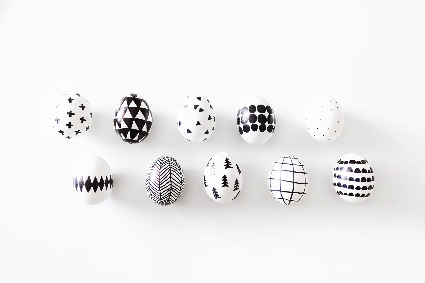 Diy Scandinavian Sharpie Easter Eggs Happy Grey Lucky