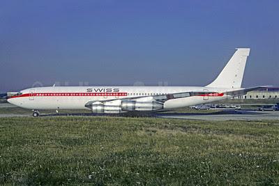 Swiss (Swissair) (Air France) Boeing 707-328B HB-IDD (F-BHSX) (msn 18457) ORY (Christian Volpati). Image: 913140.