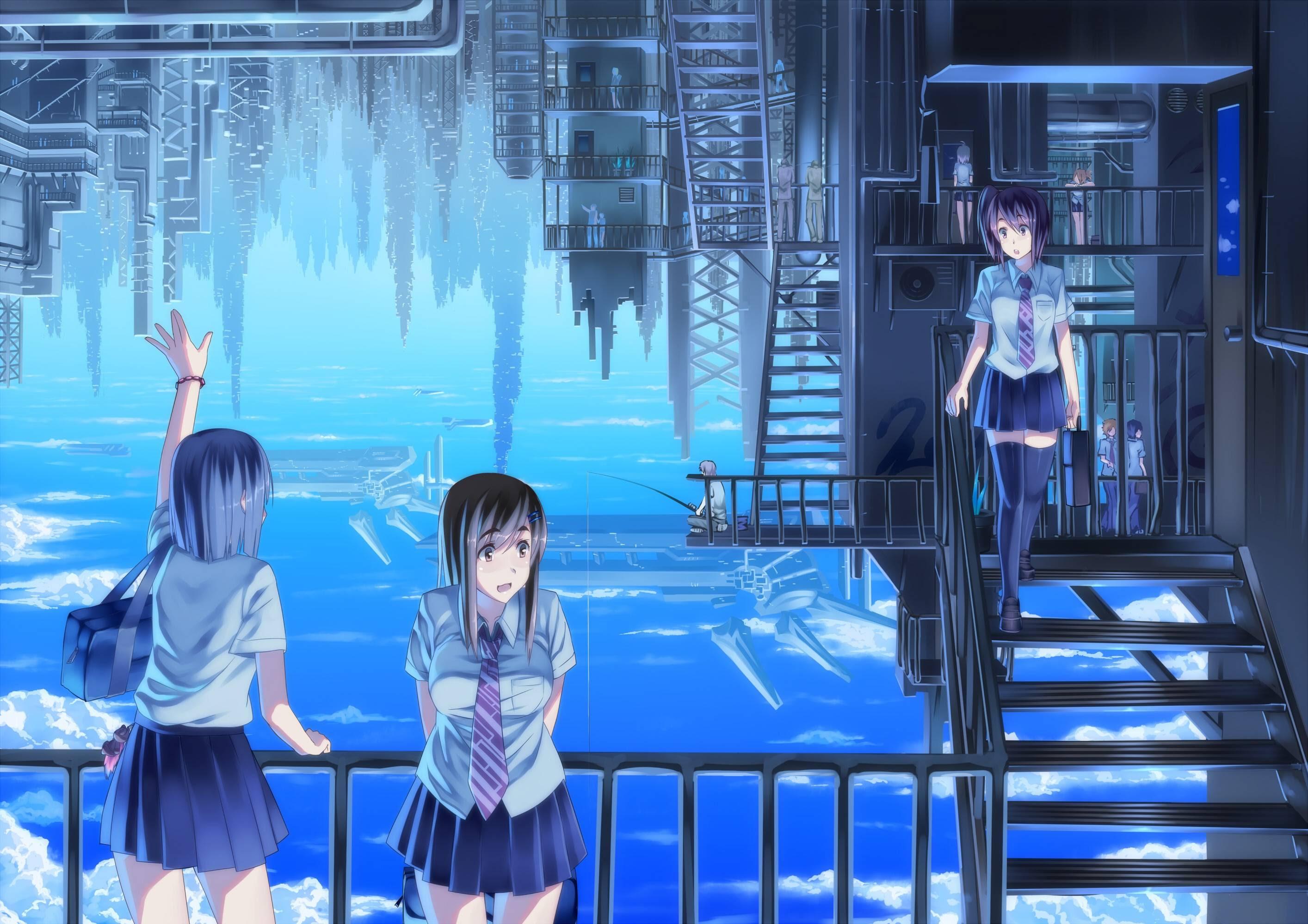 画像 幻想的女の子綺麗な風景や幻想的な風景と女の子が描かれた