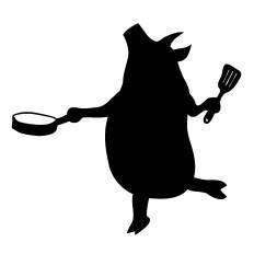 豚シルエット イラストの無料ダウンロードサイトシルエットac