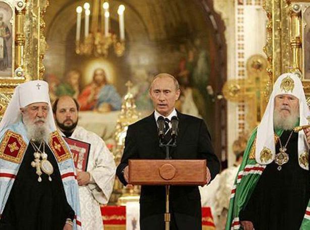 Putin quiere una Rusia cristiana