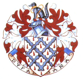 The armorial bearings of Sir Peter Gwynn Jones