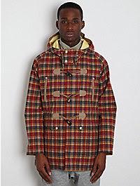 White Mountaineering Men's Goretex Check Duffle Coat  1