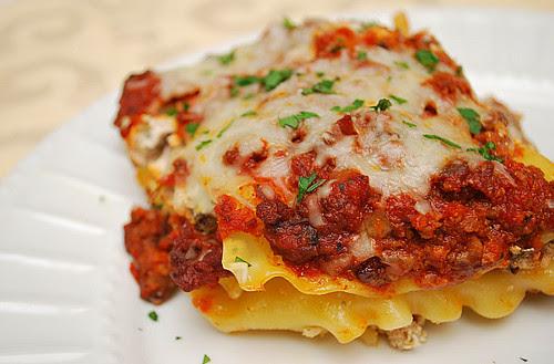 Sausage & Mushroom Lasagna