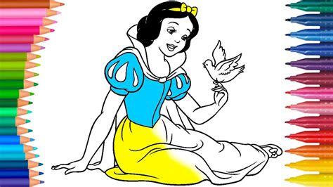 cizgi film ve masal karakteri pamuk prenses boyama sayfasi