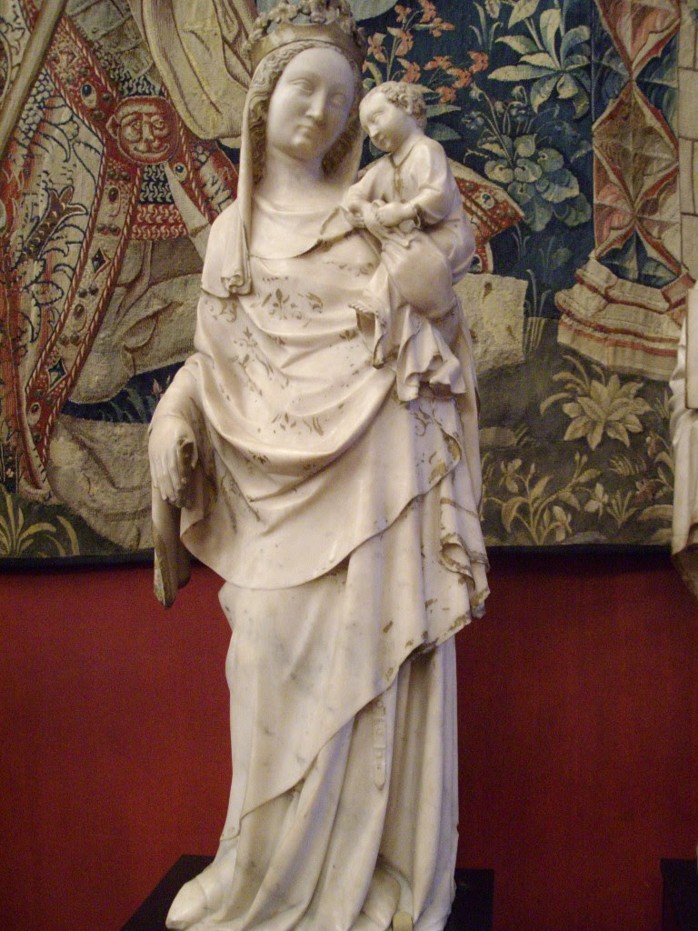 Statue of the Blessed Virgin Mary with the Christ Child, from the Abbey of Cluny. Photo by Harmonia Armand.