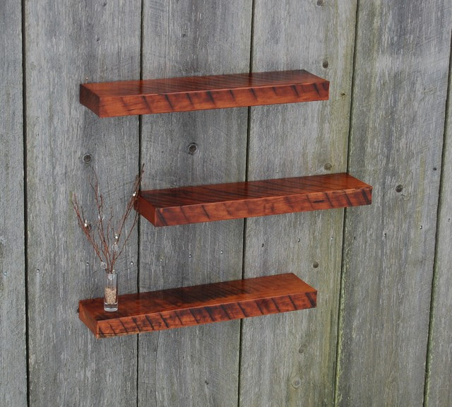 Cherry Wood Floating Cherry Wood Shelves