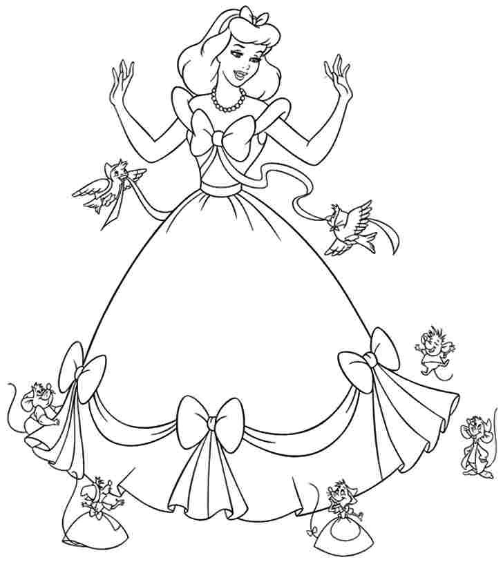Kids Coloring Pages Cinderella Coloring Home