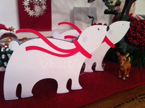 Polar Bear Cricut Card