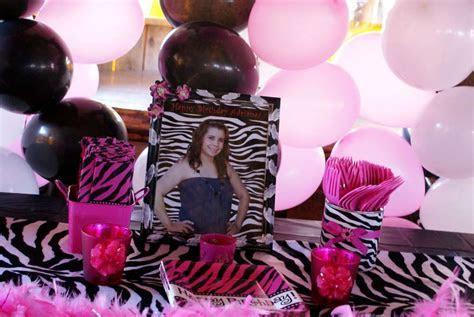 Pink/Zebra Theme Birthday Party Ideas   Photo 1 of 14