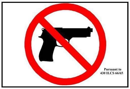 'No weapons' sign