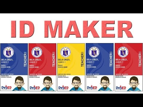 """Automatic ID card Maker Template 