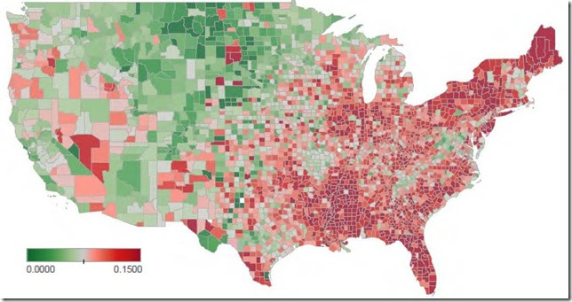 September LPS non-current by county 2
