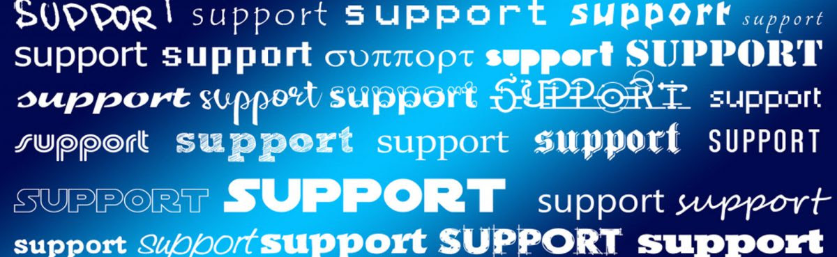 support for or support to