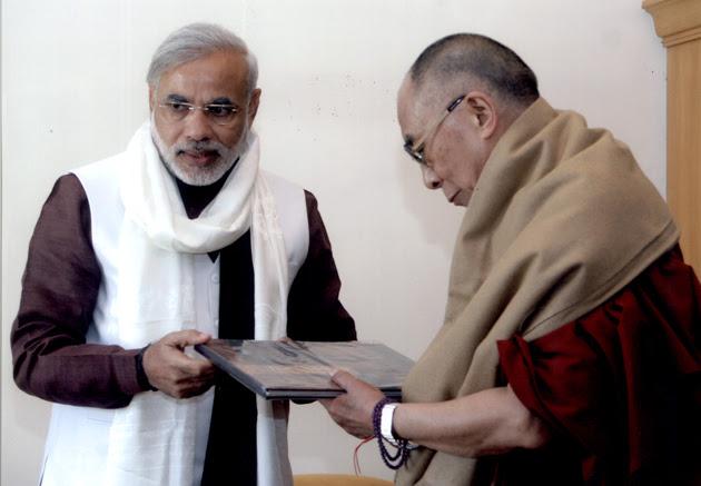 Dalai Lama congratulates Modi