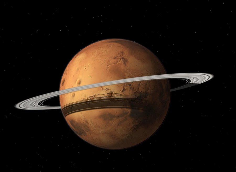 Marte pode se tornar um Planeta rodeado Algum dia