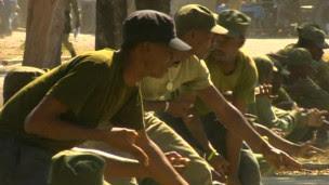 Aspirantes a soldados no Haiti (BBC)