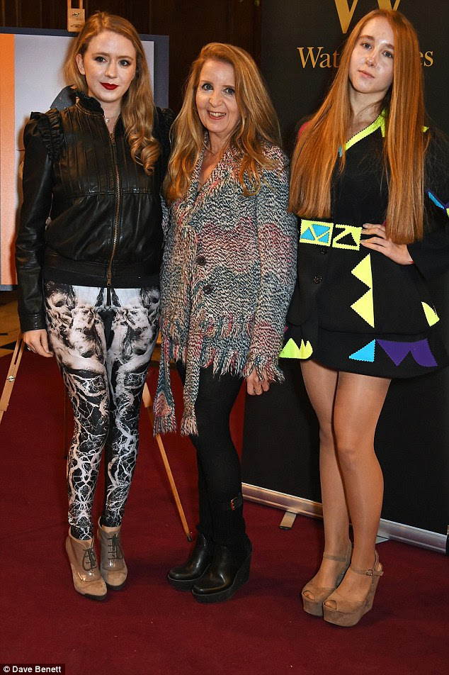 Family affair: Gillian McKeith also attended with her daughters Skylar and Afton