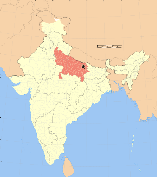 File:Uttar Pradesh district location map Gorakhpur.svg