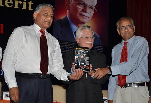 L-R Chief of Army Staff General V.K. Singh, Mr. RK Anand & Book Editor Inderjit Badhwar by Chindits