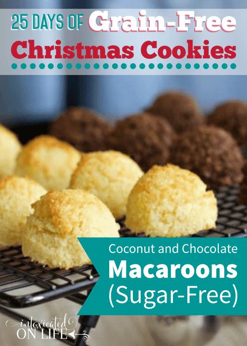 Sugar-Free, Grain-Free Coconut & Chocolate Macaroons