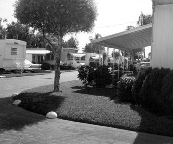 View of the Miami Heights Trailer Park: Miami, Florida (1967)