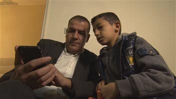 Mohamad Al Farkh et son fils Ahmed.