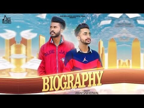 Biography Lyrics Latest Punjabi Song - Amar Sabherwal