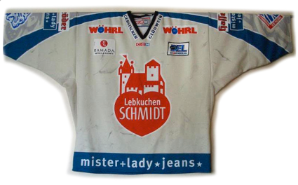 Nuermberg Ice Tigers 04-05 jersey