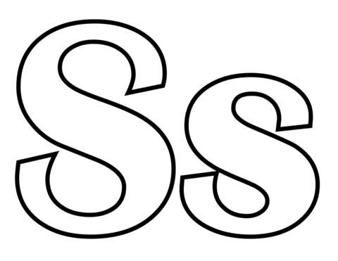 Dibujo De Letra S Para Colorear Dibujos Para Colorear Imprimir Gratis