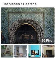 Tiled Fireplace & Hearth Pinterest Boards