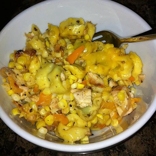 Cajun Chicken Tortellini Bake a la @duchessoffork #wfd