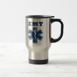 EMT Blue Star of Life Coffee Mugs