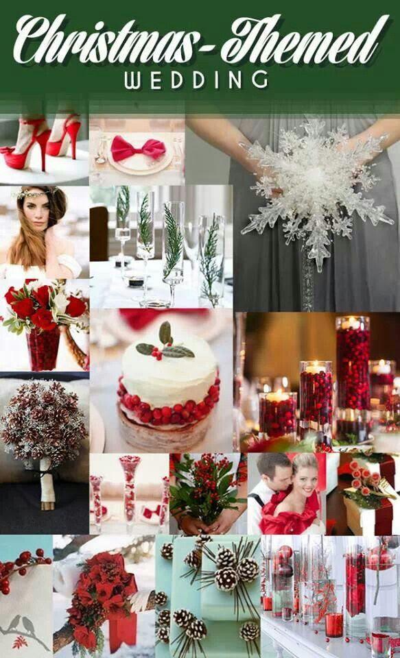 Christmas themed wedding ideas | Wedding Dreams | Pinterest