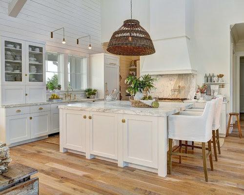 farmhouse kitchen with white appliances design ideas